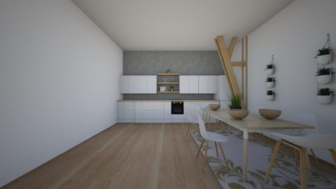scandi - Kitchen - by Unfinished Sentenc