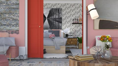 Rose and Grey - Modern - Living room - by HenkRetro1960