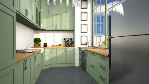 Kiwi - Kitchen - by Cailyn V