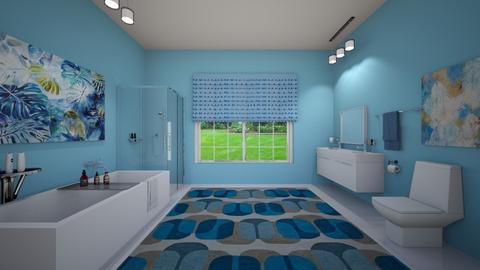 Blue Bath - Bathroom - by VeroDale
