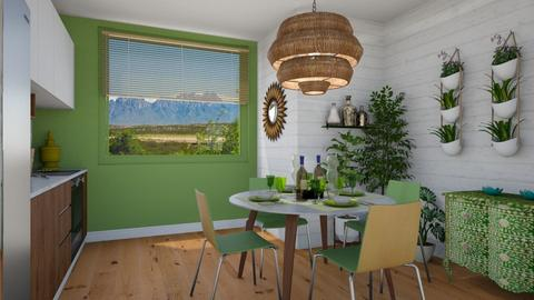 feeling green  - Dining room - by cp_interiors