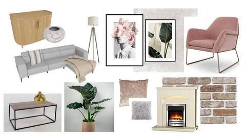 pink living room - by Terka90