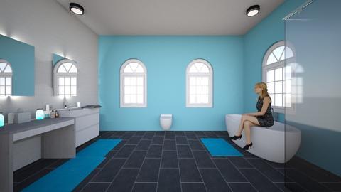 Modern Blue - Modern - Bathroom - by WPM0825