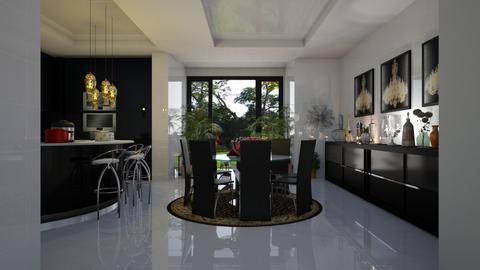 Cozinha  Preta  - Modern - Kitchen - by Maria Helena_215