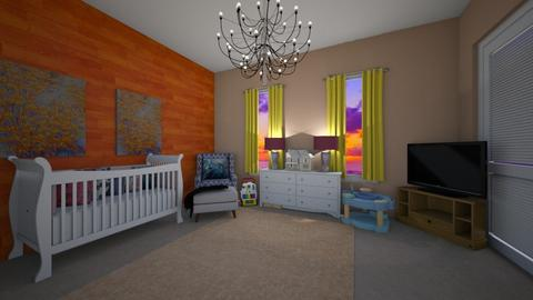 Sunset View Baby Room - by Tess Ross