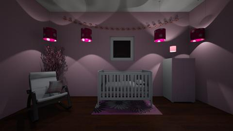 Pink Nursery - Bedroom - by udanielle12