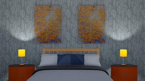 Orange and Blue - Bedroom - by LaxNat