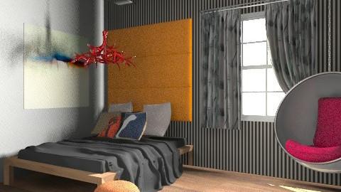 New Bedroom - Eclectic - Bedroom - by Baustin