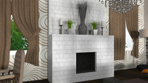 Fireplace 2 - Modern - Living room - by tanujaw