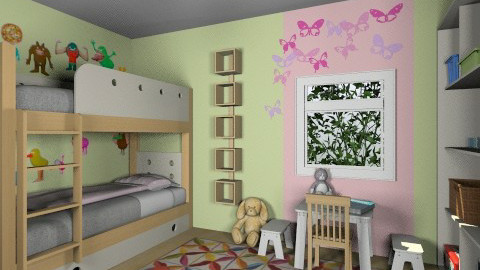 For Alicia 1 - Eclectic - Kids room - by Theadora