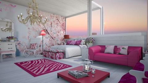 girl bedroom - Vintage - Bedroom - by mari mar
