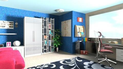 Modern Study 2 - Modern - Office - by pamdiana12
