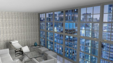 Le Corbusier - Minimal - Living room - by johannaviola87