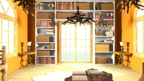 Library - Rustic - Office - by HGranger2