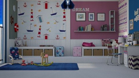 Shared room - Kids room - by meggle