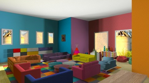 colourful livingroom - by marijnv99