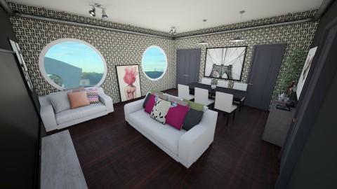 monocromatic living room - Living room - by beatrizrauta