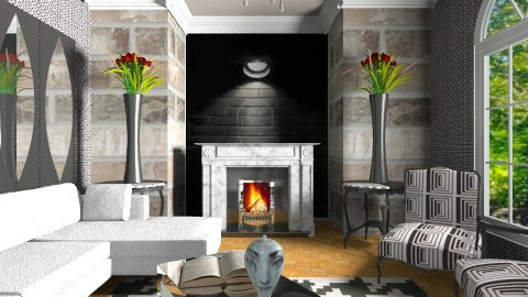 Black n White Oasis - Modern - Living room - by wiljun