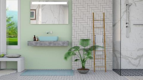 Green Modern - Modern - Bathroom - by stephendesign