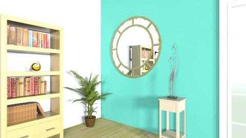 Aqua Study - Retro - Office - by Renee Loembet