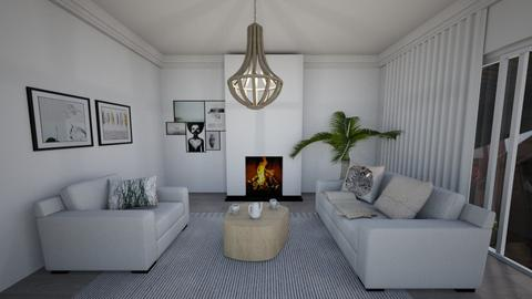White Pattern - Living room - by Ginntare