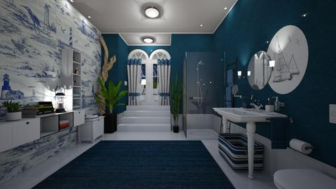 Nautical Bathroom - by Themis Aline Calcavecchia