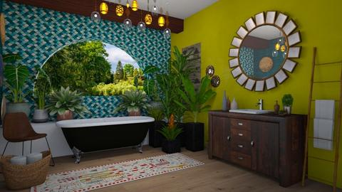 Bohemian bathroom - Bathroom - by rebsrebsmmg