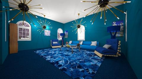 Blue you - Glamour - Living room - by Lani torres