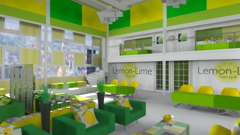 Lemon Lime Waiting Area - Office - by crosette