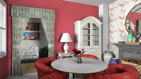 class of red and white - Vintage - Living room - by Veny Mully
