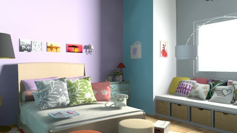 Girls room country style - Country - Bedroom - by Dani Emmet