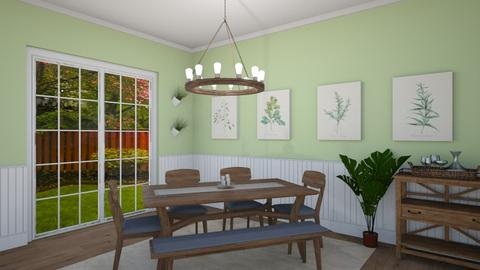 green dining room - by IsabelRule
