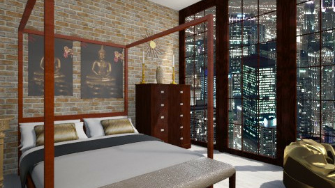gold 1 - Glamour - Bedroom - by Vicky Reed