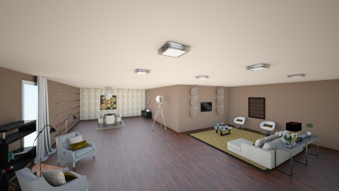 3D - Living room - by mafc1997