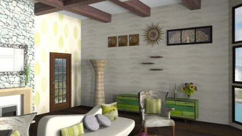 Earthy tones - Country - Living room - by Nicky West
