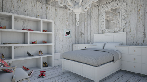 Wonderful white - Rustic - Bedroom - by 123Anna