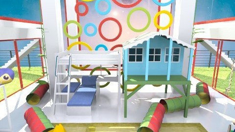 game - Modern - Kids room - by loretasofia