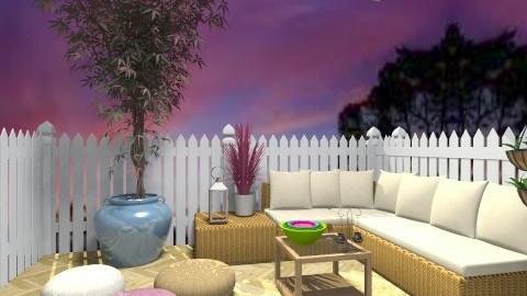 bottom of garden  - Retro - Garden - by Deise  Tamires