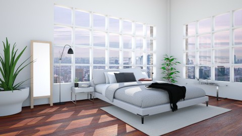 New York Loft Bedroom - Modern - Bedroom - by kerryrosemoan