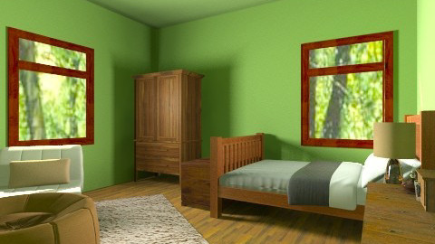 Woodsy Bedroom - Country - Bedroom - by Nature Girl