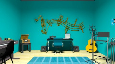 Music Room - Eclectic - Office - by KennaRee