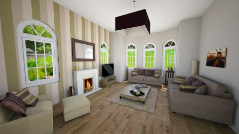 H1 GF living room - Glamour - by christymarsh2001