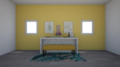 marble island - Dining room - by Meredith Crummey