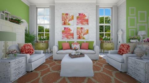 Shabby Chic Summer - Living room - by crosette