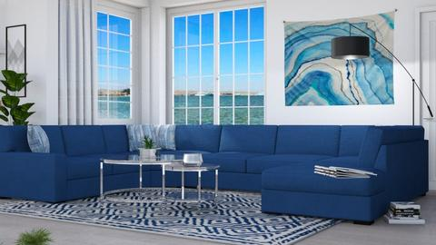 M_Blue corner - Modern - Living room - by milyca8