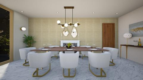 Luxe dining - Glamour - Dining room - by evemorgan96