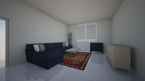 living room blue - Modern - Living room - by boniabunny