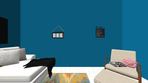 Blue living room  - Modern - Living room - by annieboy20