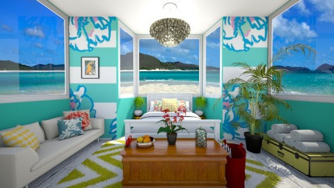 Tropical Paradise - Bedroom - by LadyMaree
