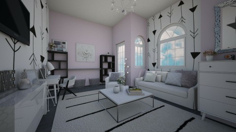 Workplace - Feminine - Living room - by CasuallyCrystalClear